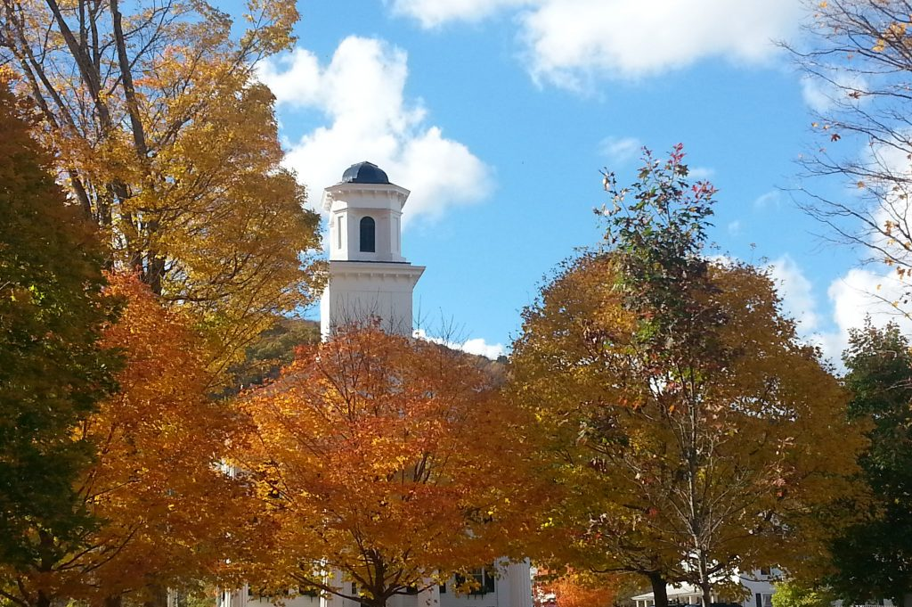 The aXiom Network Home page header image of New England Church